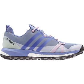 adidas TERREX Agravic Shoes Women Chalk Blue/Chalk Purple/Aero Green